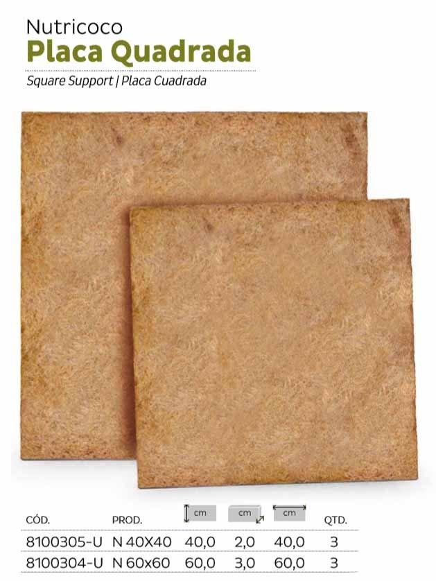 placa quadrada nutricoco
