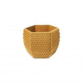 cachepo hexagonal n12 palha