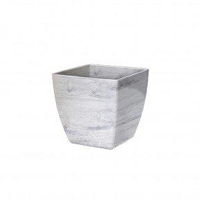 cachepo elagance quadrado n3 branco carrara
