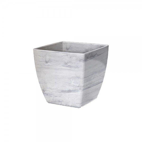 cachepo elagance quadrado n4 branco carrara