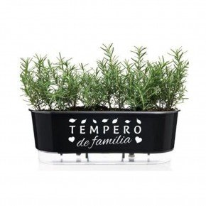 jardineira autoirrigavel vaso tempero de familia preto 40cm raiz