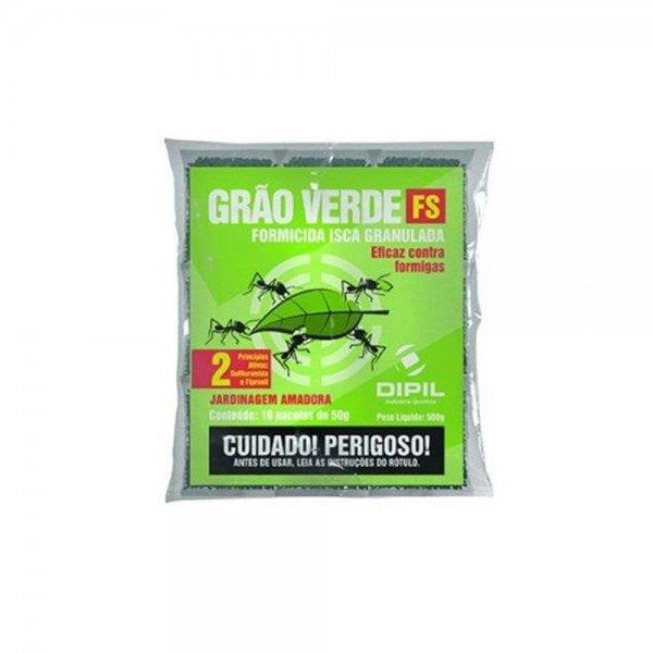 formicida granulado grao verde fs 500 gramas controle de formigas cortadeiras