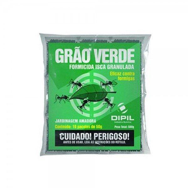 formicida isca granulada grao verde 500 gramas