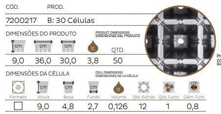 bandeja 30 celulas ft2