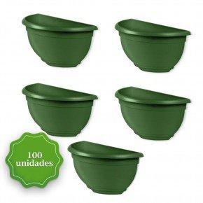 vaso de parede verde 100