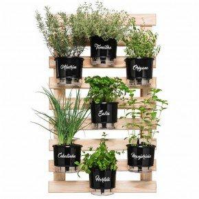 trelica de madeira raiz tamanho 100x60 para vasos autoirrigaveis horta vertical bom cultivo