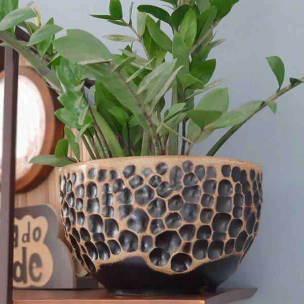 vaso luna cor envelhecido bom cultivo vaso lua