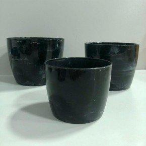 vaso elegance cachepo redondo nutriplna bom cultivo vaso marmore preto onix