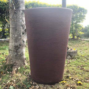 vaso coluna redonda cone bambu art bom cultivo marrom stone vaso 50cm