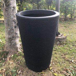 vaso coluna redonda cone bambu art bom cultivo preto vaso 50cm