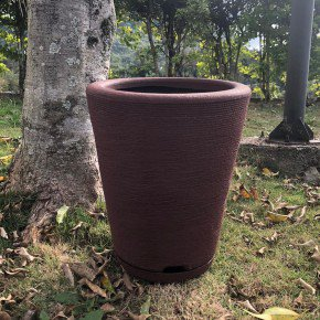 vaso coluna redonda cone bambu art bom cultivo marrom stone vaso 28cm