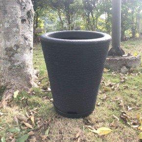 vaso coluna redonda cone bambu art bom cultivo preto vaso 28cm