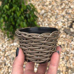 vaso cachepo bambu sintetico bambu arte bom cultivo np06 pote holabra pote pequeno mini vaso cor cappuccino