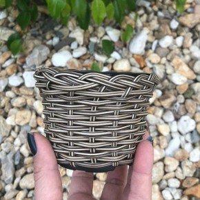 vaso cachepo bambu sintetico bambu arte bom cultivo np069pote holabra pote pequeno mini vaso cor cappuccino