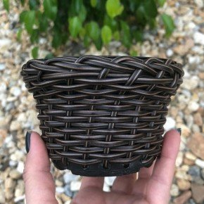 vaso cachepo bambu sintetico bambu arte bom cultivo np11 pote holabra pote pequeno mini vaso cor argila