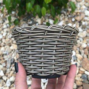 vaso cachepo bambu sintetico bambu arte bom cultivo np11 pote holabra pote pequeno mini vaso cor cappuccino