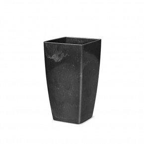 vaso trapezio preto onix nitriplan bom cultivo vaso de plastico