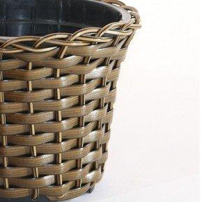 vaso vime sintetico capuccino bambu arte vasos minas bom cultivo vaso para planta vaso violeta 11cm