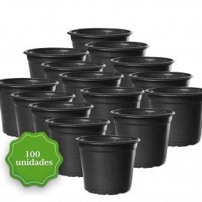 pote holambra pote para muda vaso para planta preto np13 bom cultivo