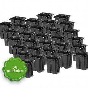 pote para muda pote quadrado vaso mini bom cultvo pote quadrado 6 5 50und