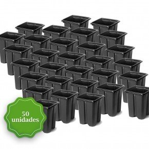 pote para muda pote quadrado vaso mini bom cultvo pote quadrado 8 5 50und