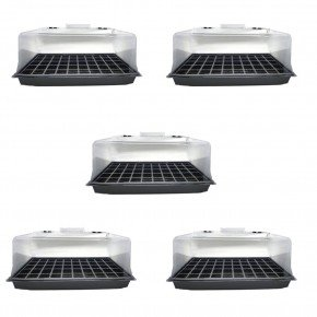 mini etufa kit com 5 unidades bom cultivo estufa para plantio em casa