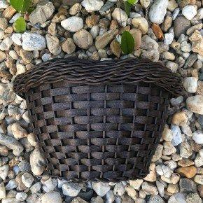 vaso argila 2 de parede bambu arte vime sintetico bom cultivo vaso de palha