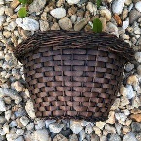 vaso envelhecido 2 de parede bambu arte vime sintetico bom cultivo vaso de palha 2