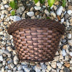 vaso indiano 2 de parede bambu arte vime sintetico bom cultivo vaso de palha
