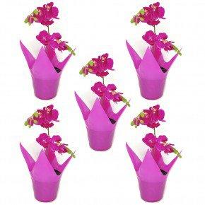 vaso rosa flexivel cachepo vaso reciclavel vaso garrafa pet vaso importado bom cultivo vaso