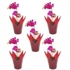 vaso vermelho flexivel cachepo vaso reciclavel vaso garrafa pet vaso importado bom cultivo vaso