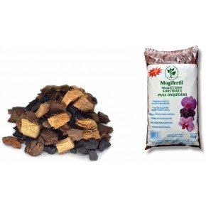 substrato para orquideas com carvao e chip de coco